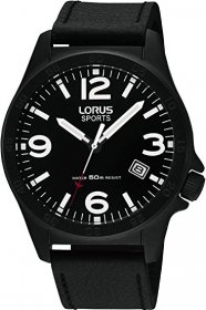 Lorus Black Leather Strap RXH39FX9