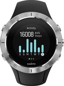 SUUNTO Spartan Trainer Steel Wrist Heart Rate Black Rubber Strap SS023425000