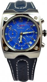 Sportime Blue Navy Leather Strap TMG1550