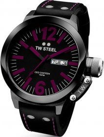 Tw Steel Black Leather Strap TW856