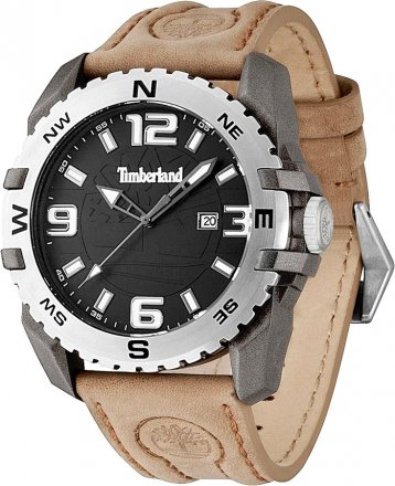 Timberland Brown Leather Strap 13856JPGYS-02