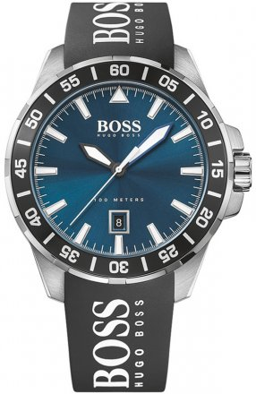 BOSS Deep Ocean Black Rubber Strap 1513232