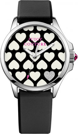 Juicy Couture Three Hands Stainless Steel Rubber Strap 1901220