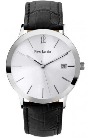 PIERRE LANNIER Classic Black Leather Strap 214H123