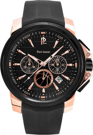 PIERRE LANNIER Special Collection FFBB Black Rubber Chronograph 229D439