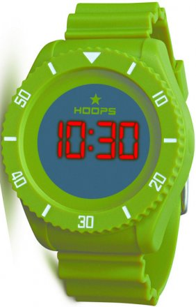 Hoops Under Water Touch Green Rubber Strap 2479ME-04