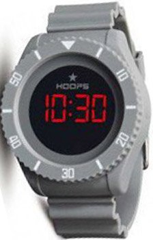 HOOPS Underwater Touch Digital Grey Rubber strap 2479ME05