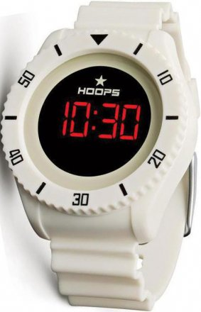 Hoops Underwater Touch White Rubber Strap 2479ME08