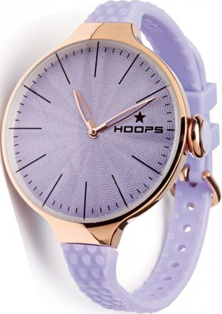HOOPS Cherie L Rose Gold Light Purple Rubber Strap 2502LG10