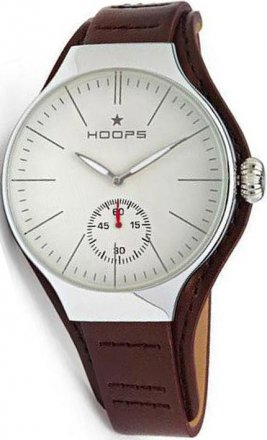 Hoops Dandy Silver Brown Leather Strap 2508MC02