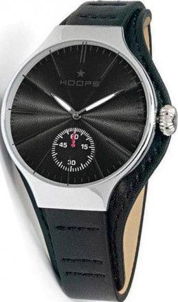 Hoops Dandy Silver Black Leather Strap 2508MC03