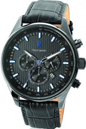 Pierre Lannier Black Croco Leather Strap 260D489