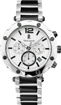 PIERRE LANNIER Ceramic With Stainless Steel Chronograph 277D421