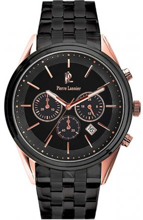 PIERRE LANNIER Black Stainless Steel Chronograph 292D039
