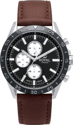 Royal London Black Leather Strap 41411-01