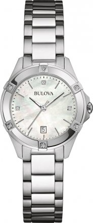 BULOVA Diamonds Stainless Steel Bracelet 96W205