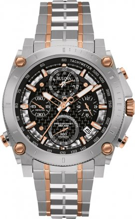 BULOVA Precisionist Champlain 140th Anniversary Stainless Steel Chronograph 98G256