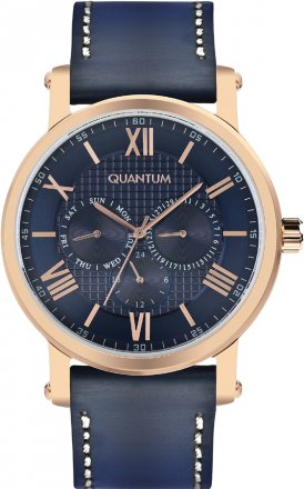 Quantum Blue Leather Strap ADG460.499