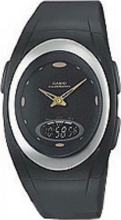 Casio Collection AnaDigi Black Rubber Strap - AQE101E2EF