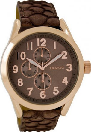 Oozoo Timepieces Brown Leather Strap C6531