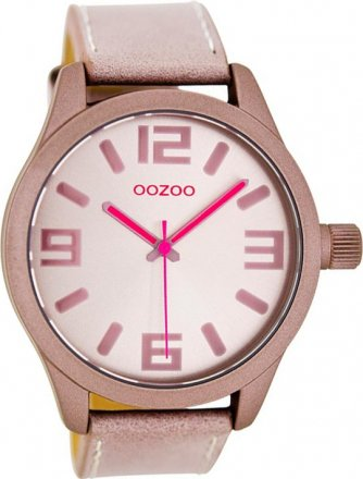 OOZOO Timepieces XL Pink Leather Strap C7885