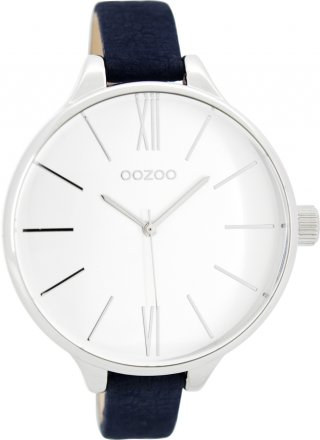 Oozoo Timepieces Blue Leather Strap C8028