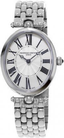 Frederique Constant Art Deco Silver Dial Black Stain Ladies Watch FC-200MPW2V6B
