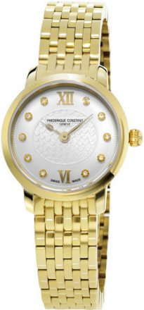 Frederique Constant Women's Slim Line Yellow Goldtone Stainless Steel Watch FC-200WHDS5B