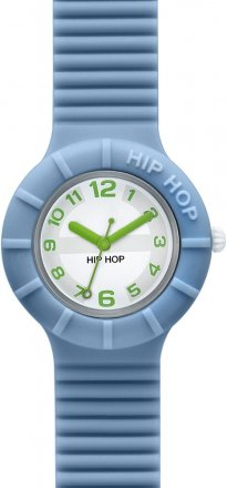 Hip Hop Light Blue Rubber Strap HWU0127