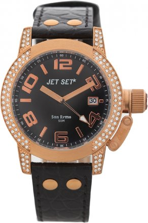 Jet Set Black Leather Strap J4068-237