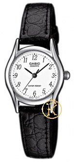CASIO Collection Black Leather Strap LTP-1154E-7BEF