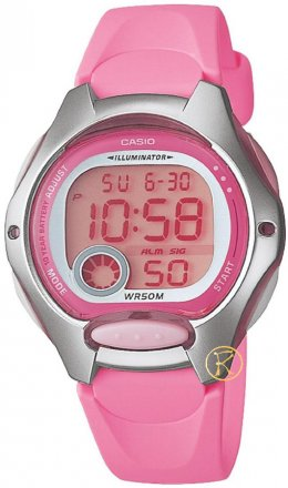 CASIO Collection Digital Pink Rubber Strap LW-200-4BVEF
