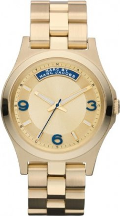Marc Jacobs Dave Gold Dial Stainless Steel Quartz Ladies Watch MBM3162