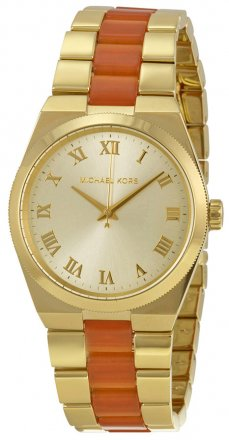 Michael Kors Channing Champagne Dial Quartz Ladies Watch  MK6153