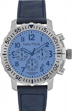 Nautica Blue Leather Strap NAI19534G