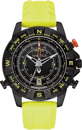 Nautica Yellow Rubber Strap NAI21000G