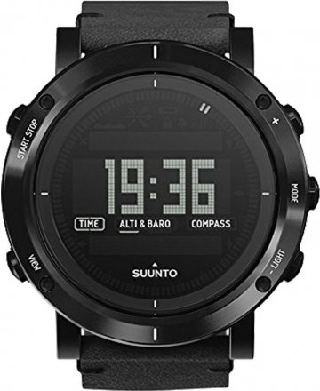 SUUNTO Essential Carbon Black Leather Strap SS021215000