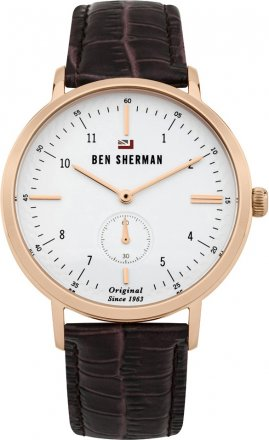 BEN SHERMAN The Dylan Professional Brown Leather Strap WBS102TRG