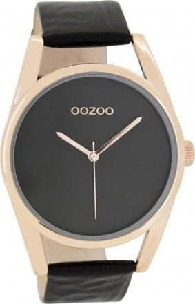 OOZOO Timepieces Black Leather Strap C7589