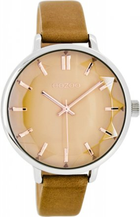 OOZOO Timepieces Brown Leather Strap C7917
