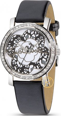Just Cavalli Moon Black Leather Strap  R7251103745