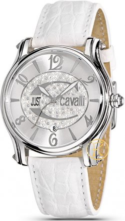 Just CAVALLI Eclipse White Leather Strap  R7251168715