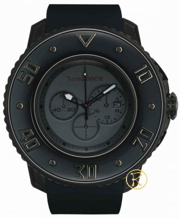 TENDENCE G52 Chronograph Black Rubber Strap  02106002