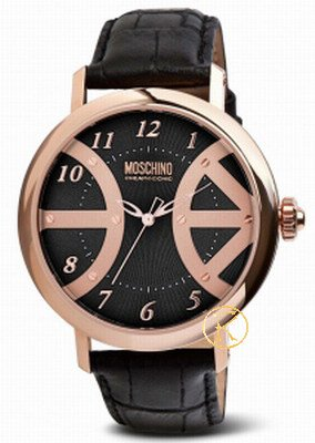 MOSCHINO Pacify Yourself Black Leather Strap  MW0240