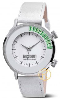 MOSCHINO Chic & Cool White Leather Strap  MW0245