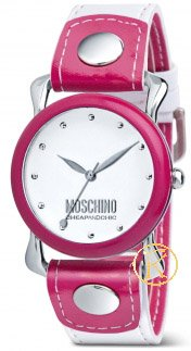 MOSCHINO Twist Of Time Interchangeable Ring and Leather Strap  MW0253