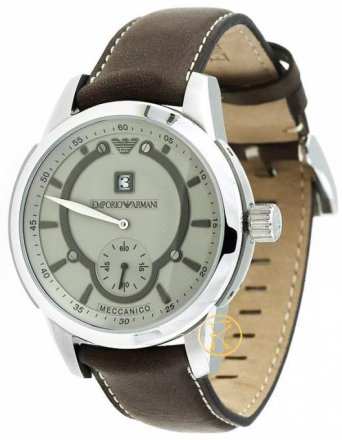 Emporio ARMANI Automatic Brown Leather Mens AR4601