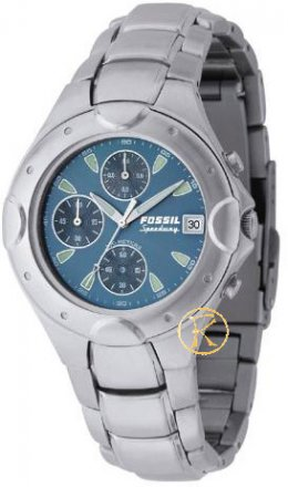 FOSSIL Blue Dial Stainless Steel Chronograph CH2310