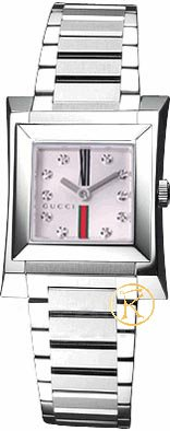 Gucci 111 Guccio Ladies Watch - Silver Diamond Dial YA111503