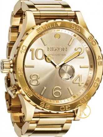NIXON 51-30 All Gold Stainless Steel Bracelet A057502